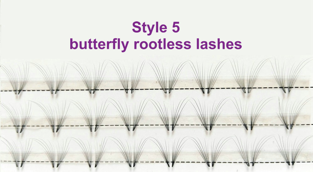 Style 5: butterfly rootless lashes