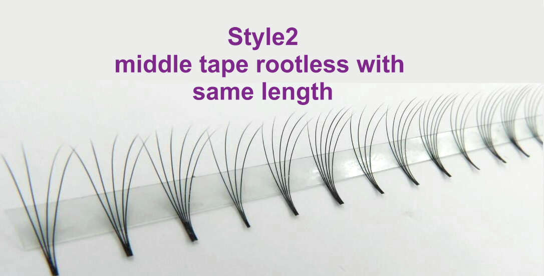 Style2: middle tape rootless with same length