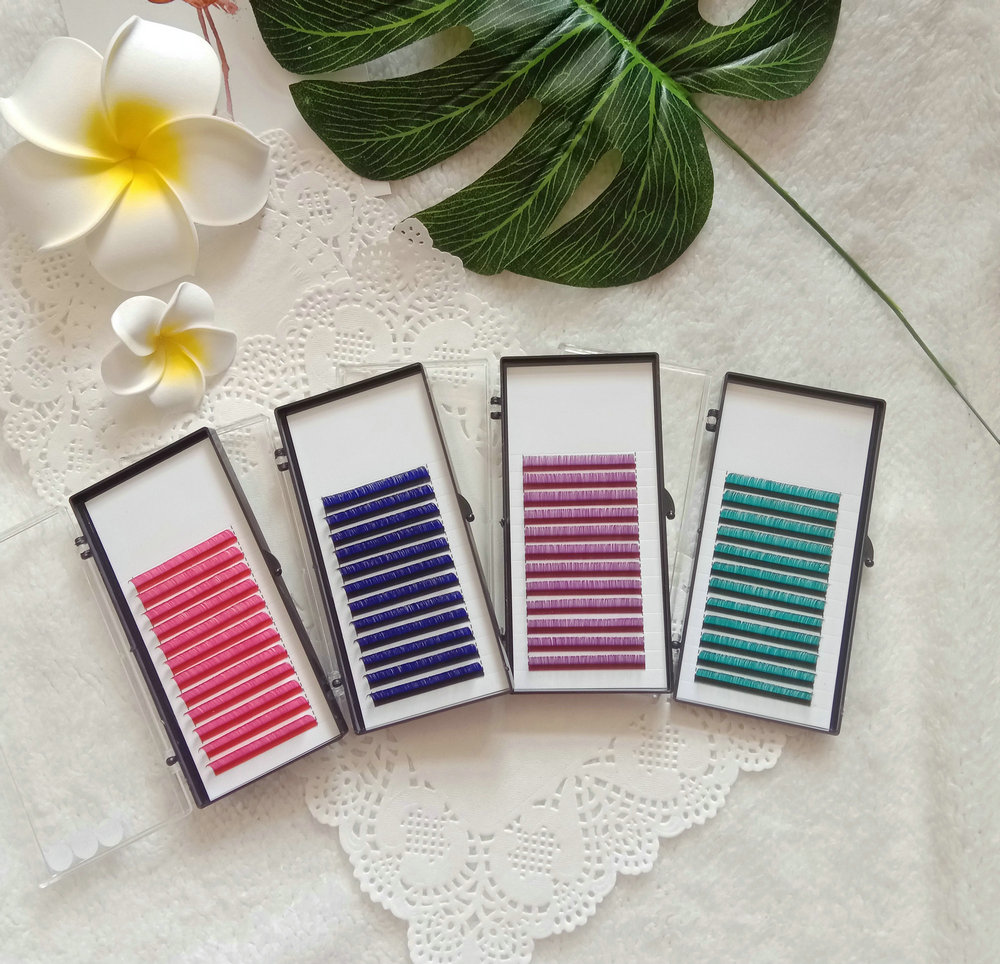 Colored blooming lashes(easy fanning)